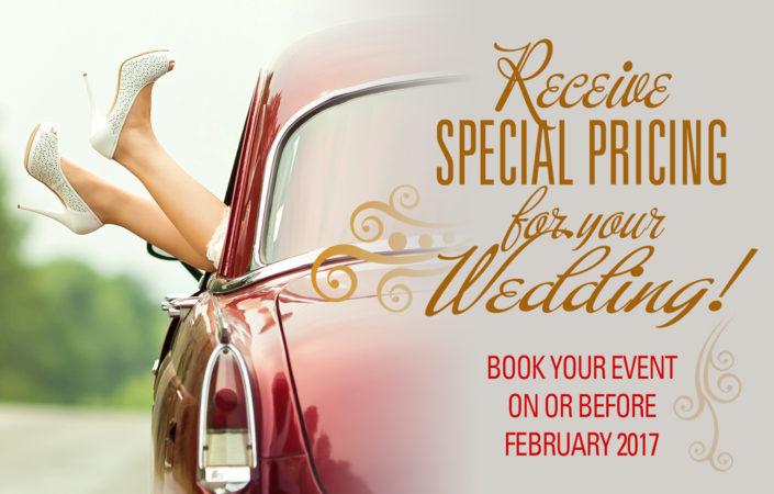 Wedding venue discount