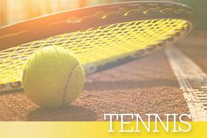 Tennis-ball-and-racquet-sunset
